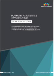 Platform as a Service (PaaS) Market by Type (APaaS, IPaaS, DBPaaS), Deployment (Public and Private), Organization Size (Large Enterprises and SMEs), Vertical (Consumer Goods and Retail, BFSI, Manufacturing), and Region - Global Forecast to 2026