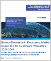 Battery Elimination in Electronics: Market Impact IoT, 6G, Healthcare, Wearables 2021-2041