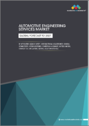 Automotive Engineering Services Market by Application (ADAS & Safety, Body Electrical & Electronics, Chassis, Connectivity, Interior/Exterior, Powertrain & Exhaust, Battery, Motor, Charger Test, Simulation), Service, Location & Vehicle-Forecast to 2027