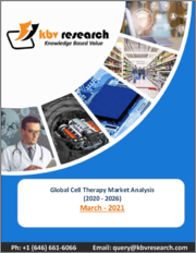 Global Cell Therapy Market By Therapy Type, By Therapeutic Area, By End User, By Cell Type, By Regional Outlook, Industry Analysis Report and Forecast, 2020 - 2026