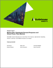 Market Data - Residential Demand Response and Virtual Power Plant Markets - Residential Demand Response and Virtual Power Plant Capacity, Implementation Spending, Revenue, and Sites: Global Market Forecasts and Analysis