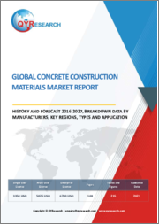 Global Concrete Construction Materials Market Report, History and Forecast 2016-2027