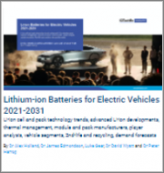Lithium-ion Batteries for Electric Vehicles 2021-2031