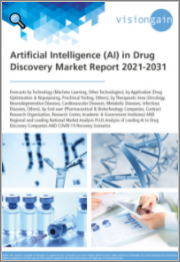 Artificial Intelligence (AI) in Drug Discovery Market Report 2021-2031: Forecasts by Technology, by Application, by Therapeutic Area, by End-user, Regional & Leading National Market Analysis, Leading Companies, and COVID-19 Recovery Scenarios