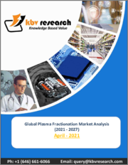 Global Plasma Fractionation Market By Product (Immunoglobulins, Albumin, Coagulation factor VIII and Coagulation factor IX), By Sector (Private Sector and Public Sector), By Regional Outlook, Industry Analysis Report and Forecast, 2021 - 2027