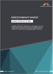Embolotherapy Market by Product (Embolic Agents (Microspheres, Liquid Embolic Agents, Coil), Microcatheters), Indication (Oncology, Vascular, Aneurysm, Urology, Nephrology), Procedure (TACE, TARE), Enduser(Hospital, Clinics, ASC)-Global Forecast to 2026