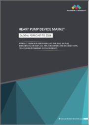 Heart Pump Device Market by Product (Ventricular Assist Devices (LVAD, RVAD, BiVAD, and pVAD), Intra-aortic Balloon Pumps, TAH), Type (Extracorporeal and Implantable Pumps), Therapy (Bridge-to-transplant, Destination Therapy) - Global Forecast to 2026