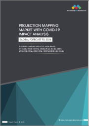 Projection Mapping Market with Covid-19 Impact Analysis by Offering (Hardware (Projector, Media Server), Software), Throw Distance, Dimension (2D, 3D, 4D), Lumens, Applications (Media, Venue, Retail, Entertainment), and Region - Global Forecast to 2026