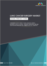 Lung Cancer Surgery Market by Instrument ((Clamps, Foreceps, Trocars, Retractors, Scissors), Monitoring & Endoscopic Devices), Procedure (Thoracotomy (Lobectomy, Pneumonectomy, Segmentectomy, Sleeve Resection), MIS), Volume Data-Global Forecast to 2026