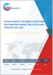 Covid-19 Impact on Global Luxury High End Furniture Market Size, Status and Forecast 2021-2027