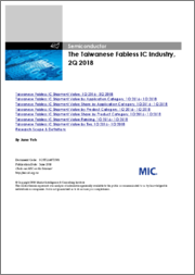 The Taiwanese Fabless IC Industry, 4Q 2018