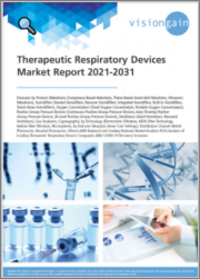 Therapeutic Respiratory Devices Market Report 2021-2031: Forecasts by Product, Nebulizers, Humidifiers, Oxygen Concentrators, Positive Airway Pressure Devices, Ventilators, Technology, End-user, Leading National Market Analysis/Companies, COVID-19