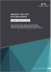 Aircraft Electric Motors Market by Type (AC motor, DC motor), Application, Output Power, Torque, Power Density, End User, Aircraft Type (Fixed Wing, Rotary Wing, Unmanned Aerial Vehicles, Advanced Air Mobility), and Region - Forecast to 2026