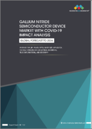 Gallium Nitride Semiconductor Device Market with COVID-19 Impact Analysis by Device Type (RF, Power, Opto), Wafer Size, Application, Vertical (Consumer and Enterprises, Automotive, Telecommunications), and Geography - Global Forecast to 2026