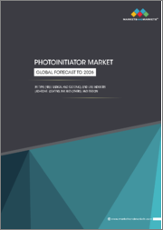 Photoinitiator Market with COVID-19 Impact Analysis by Type ( Free Radical & Cationic), End-use Industry ( Adhesives, Ink, Coating), and Region ( North America, Europe, APAC, Middle East & Africa, South America) - Global Forecast to 2026