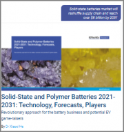 Solid-State and Polymer Batteries 2021-2031: Technology, Forecasts, Players