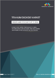 Titanium Dioxide Market by Grade (Rutile, Anatase), Process (Sulfate, Chloride), Application (Paints & Coating, Plastics, Paper, Inks), & Region(North America, Europe, Asia Pacific, MEA, South America) - Trends and Forecasts up to 2026