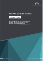 Military Sensors Market by Platform (Airborne, Land, Naval, Munitions, Satellites), Application, Type, and Region (North America, Europe, Asia Pacific, Middle East & Africa, Rest of the World) - Global Forecast to 2026