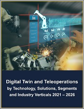 Digital Twin and Teleoperations Market by Technology, Solutions, Segments (Enterprise, Industrial, and Government), and Industry Verticals 2021 - 2026