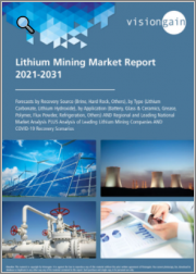 Lithium Mining Market Report 2021-2031: Forecasts by Recovery Source (Brine, Hard Rock, Others), by Type (Lithium Carbonate/Hydroxide), by Application, Regional & Leading National Market Analysis, Leading Companies, COVID-19 Recovery Scenarios