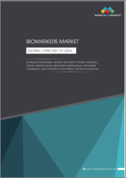 Biomarkers Market by Product (Consumable, Service), Type (Safety, Efficacy, Validation), Disease (Cancer (Solid & Liquid Biopsy), Neurological), Application (Diagnostics, Drug Discovery & Development, Personalized Medicine) - Global Forecast to 2026