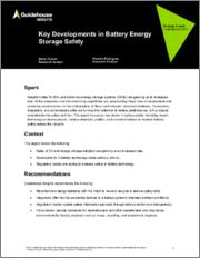 Key Developments in Battery Energy Storage Safety