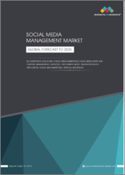 Social Media Management Market by Component (Solutions (Social Media Marketing, Social Media Asset and Content Management), Services), Deployment Mode, Organization Size, Application, (Sales and Marketing), Vertical - Global Forecast to 2026