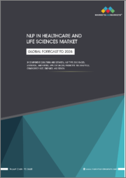 NLP in Healthcare and Life Sciences Market by Component (Solutions and Services), NLP Type (Rule-based, Statistical, and Hybrid), Application (IVR, Predictive Risk Analytics), Organization Size, End User, and Region - Global Forecast to 2026