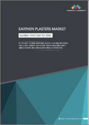 Earthen Plasters Market by Type (Iron, Calcium, Magnesium, Silicates, Aluminium), Application (Walls, Roofs, Masonry, Agriculture,) and Region (APAC, North America, Europe, MEA & South America) - Global Forecast to 2026