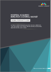 Hospital Acquired Infection Control Market by Product & Service [Sterilization (Equipment, Services), Disinfectants (Hand, Skin, Surface, Wipes, Sprays)], End User (Hospitals, Nursing Homes, Diagnostic Centers), COVID-19 Impact - Global Forecast to 2026