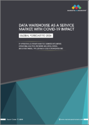 Data Warehouse as a Service Market with COVID-19 Impact by Application (Customer Analytics, Business Intelligence, Operational Analytics, Predictive Analytics), Vertical, Deployment Model, Type(EDWaaS & ODS),& Organization Size - Global Forecast to 2026