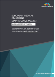 European Medical Equipment Maintenance Market by Device [imaging(MRI, CT, X-ray, mammography), Endoscopy, Monitoring, Dental, Lab Devices], Provider(OEM, ISO), Service (Preventive, Corrective), End User (Hospital, ASCs, Clinic) - Global Forecast to 2026