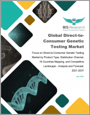 Global Direct-to-Consumer Genetic Testing Market: Focus on Direct-to-Consumer Genetic Testing Market by Product Type, Distribution Channel, 15 Countries Mapping, and Competitive Landscape - Analysis and Forecast, 2021-2031