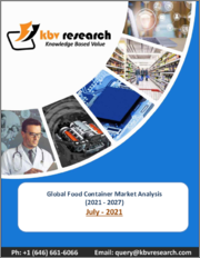 Global Food Container Market By Product (Cans, Boxes, Bottles & Jars, Cups & Tubs, and Other Product), By Material (Plastic, Metal, Glass and Other Materials), By Regional Outlook, COVID-19 Impact Analysis Report and Forecast, 2021 - 2027