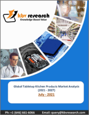 Global Tabletop Kitchen Products Market By Type (Dinnerware, Whitegoods, Buffet Products, Drinkware, Flatware and Others), By Application (Residential and Commercial), By Regional Outlook, COVID-19 Impact Analysis Report and Forecast, 2021 - 2027