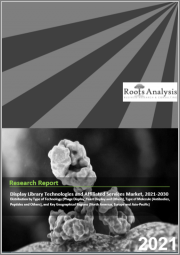 Display Library Technologies and Affiliated Services Market by Type of Technology (Phage Display, Yeast Display and Others), Type of Molecule (Antibodies, Peptides and Others), and Key Geographical Regions