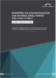 Enterprise File Synchronization and Sharing (EFSS) Market With COVID-19 Impact by Component (Solutions, Services), Deployment Mode (Cloud, On-premises), End User (Large Enterprises, SMEs), Vertical (BFSI, Healthcare), & Region - Global Forecast to 2026