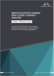 Service Robotics Market with COVID-19 Impact Analysis, by Environment, Type (Professional, Personal & Domestic), Component, Application (Logistics, Inspection & Maintenance, Public Relations, Education, Personal), & Geography-Global Forecast to 2026