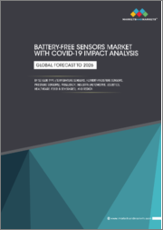 Battery-free Sensors Market with COVID-19 Impact Analysis, by Sensor Type (Temperature Sensors, Humidity/Moisture Sensors, Pressure Sensors), Frequency, Industry (Automotive, Logistics, Healthcare, Food & Beverages), and Region - Global Forecast to 2026