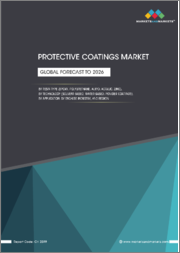 Protective Coatings Market by Resin Type (Epoxy, Polyurethane, Acrylic, Alkyd, Zinc), Technology (Solvent-based, Water-based, Powder Coatings), Application, End-Use Industry, and Region - Global Forecast to 2026