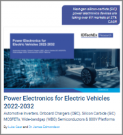 Power Electronics for Electric Vehicles 2022-2032