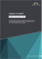 Omega-3 Market by Type (DHA, EPA, and ALA), Application (Dietary Supplements, Functional Foods & Beverages, Pharmaceuticals, Infant Formula, and Pet Food & Feed), Source (Marine and Plant), and Region - Global Forecasts to 2025