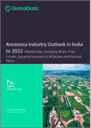 Ammonia Industry Outlook in India to 2022 - Market Size, Company Share, Price Trends, Capacity Forecasts of All Active and Planned Plants