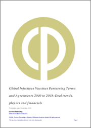 Global Infectious Vaccines Partnering Terms and Agreements 2014 to 2019: Deal trends, players and financials