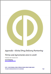 Global Drug Delivery Partnering 2010-2015: Deal Trends, Players and Financials