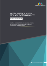 North America Water Storage Systems Market by Material (Concrete, Steel, Plastic, Fiberglass), Application, End-Use Industry (Municipal, Industrial, Residential, Commercial), and Country (United States, Canada, and Mexico) - Forecast to 2024