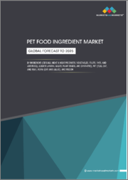 Pet Food Ingredient Market by Ingredient (Cereals, Meat & Meat Products, Vegetables, Fruits, Fats, and Additives), Source (Animal-based, Plant-based, and Synthetic), Pet (Dog, Cat, and Fish), Form (Dry and Liquid), and Region - Global Forecast to 2025