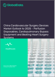 China Cardiovascular Surgery Devices Market Outlook to 2025 - Perfusion Disposables, Cardiopulmonary Bypass Equipment and Beating Heart Surgery Systems