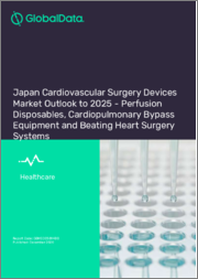 Japan Cardiovascular Surgery Devices Market Outlook to 2025 - Perfusion Disposables, Cardiopulmonary Bypass Equipment and Beating Heart Surgery Systems