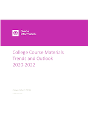 College Course Materials, Trends and Outlook 2020-2022